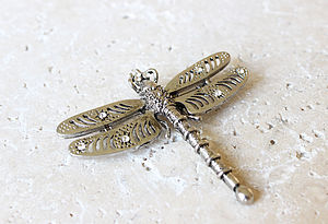 Vintage Style Dragonfly Brooch - pins & brooches