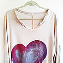 Purple & Metallic with Red Heart