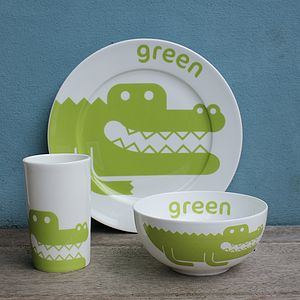 Crocodile Fine Bone China Tableware Gift Set