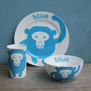 Monkey Fine Bone China Tableware Gift Set - tableware