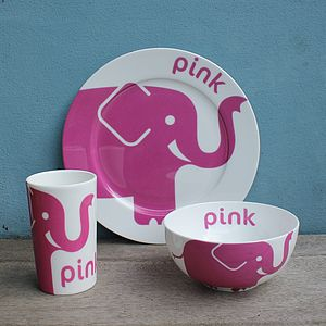 Elephant Fine Bone China Tableware Gift Set - baby care