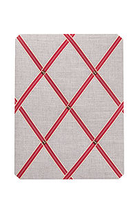 Vintage Linen Noticeboard Vintage Red - kitchen