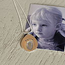 Personalised Teardrop Fingerprint Pendant