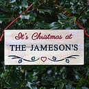 Personalised Engraved Family Christmas Sign