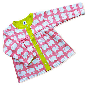 'Sheep' Baby Girl Reversible Cardigan - jumpers & cardigans