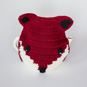 Handmade Crochet Fox Tea Cosy - kitchen accessories