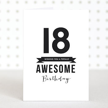 'Awesome 18' Birthday Card