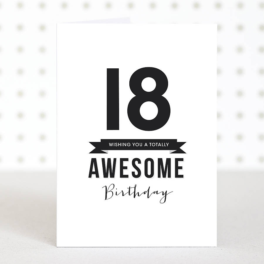Birthday Quotes For Daughter Turning 18: 'awesome 18' Birthday Card By Doodlelove