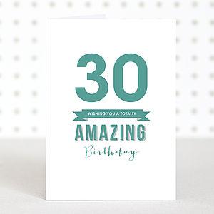 'Amazing 30' Birthday Card