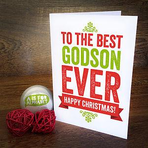 Best Godson Ever Christmas Card