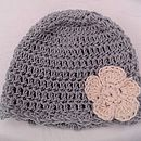 Organic Cotton Duck Egg Blue Baby Beanie