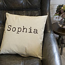 Personalised Typewriter Name Cushion