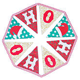 'Ho Ho Ho' Christmas Bunting - christmas decorations