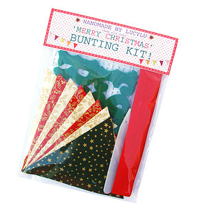'Merry Christmas' Bunting Kit - creative kits & experiences