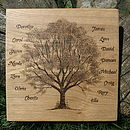Personalised Hand Engraved Family Tree
