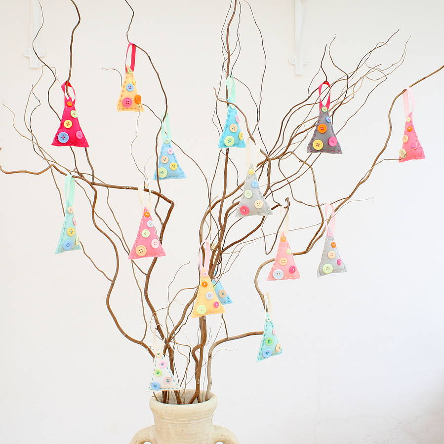 crafty alchemy make your own felt christmas tree decorations