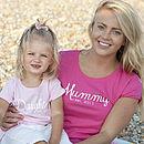 Mummy And Daughter 'Est' T Shirt Set