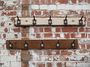 Row Of Five Factory Hooks