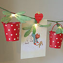Set Of Three Mini Red Buckets