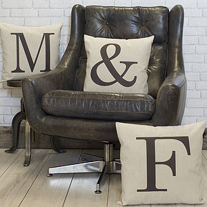 Alphabet Letter Linen Cushion