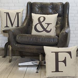 Alphabet Letter Linen Cushion - cushions