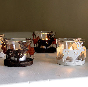 Reindeer Tea Light Votive - view all decorations