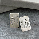 Handmade Allium Studs In Silver Or Gold