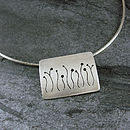 Handmade Allium Silver Pendant Necklace