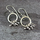 Pods Loop Silver Earrings