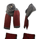 Extra Long Chevron Patterned Scarf
