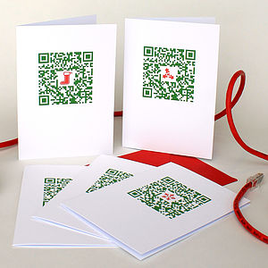 Five Geeky Qr Code Christmas Cards - cards & wrap