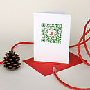 QR Code 'Stocking' Christmas Card