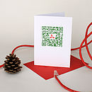 QR Code 'Holly' Christmas Card