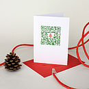 QR Code 'Tree' Christmas Card