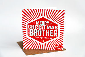 Brother Christmas Card - cards
