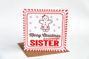 Sister Christmas Card - shop by category