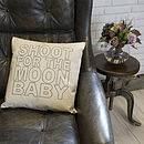 'Shoot For The Moon' Linen Cushion