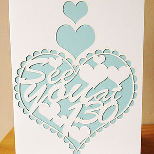 'See You At…' Laser Cut Wedding Card - wedding cards & wrap