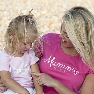 Mummy And Daughter 'Est' T Shirt Set - tops & t-shirts