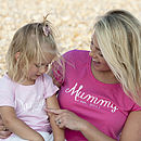Mummy And Daughter 'Est' T Shirt Set