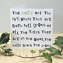 The Holly And The Ivy Christmas Card