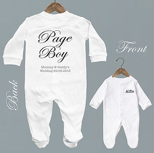 Personalised 'Page Boy' Baby Romper - outfits & sets