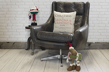 Personalised Christmas Grandparents Cushion