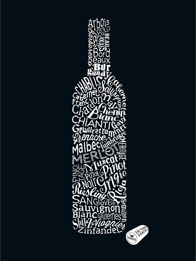 wine types' art print by run for the hills | notonthehighstreet.com