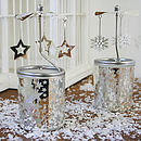 Spinning Rotary Tea Light Snow Flake And Star
