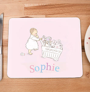 Personalised Children's Placemat 'Toys' - kitchen