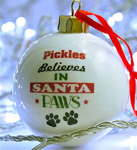 Santa Paws Bauble - view all decorations