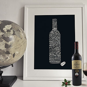 'Wine Types' Art Print - food & drink