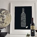 'Wine Types' Art Print