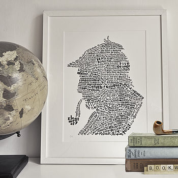A Study In Sherlock Art Print White